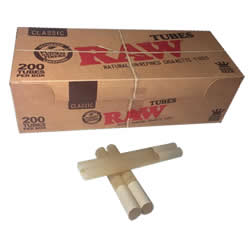 RAW Natural Unrefined King Size Cigarette Tubes
