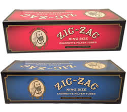 Zig Zag King Size Cigarette Tubes | Full Flavored & Light