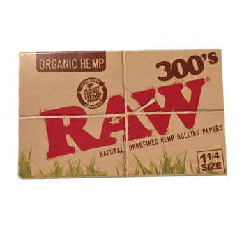 RAW-Organic-Hemp-300's-Rolling-Papers