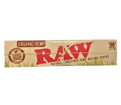 RAW Organic Hemp King Sized Slim Rolling Papers