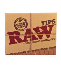 RAW Pre-Rolled Rolling Tips Pack